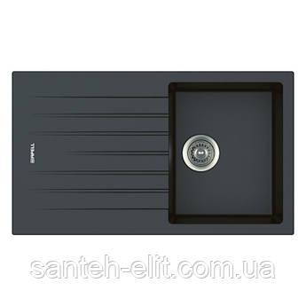 Кухонная мойка Apell Pietra Plus PTPL861GB Black granit