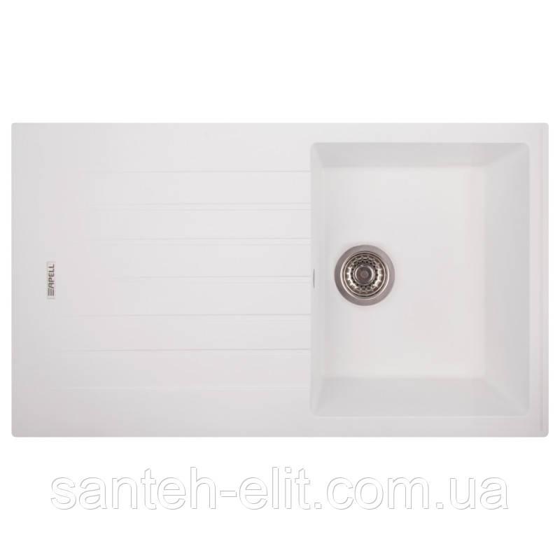 Кухонная мойка Apell Pietra Plus PTPL1001GW Total white