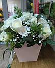 Букет с доставкой 3-101 свежие белые розы Кривой Рог, фото 2
