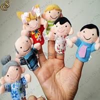 """Куклы на пальцы - """"Большая семья"""" - 6 шт., фото 1"""