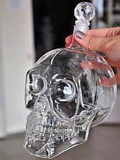 Подарочный набор Графин в форме черепа 0,75 л и 2 стакана Череп, фото 2