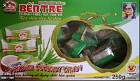 Кокосовые натуральные конфеты Bentre 250г c соком листьев Pandan Вьетнам