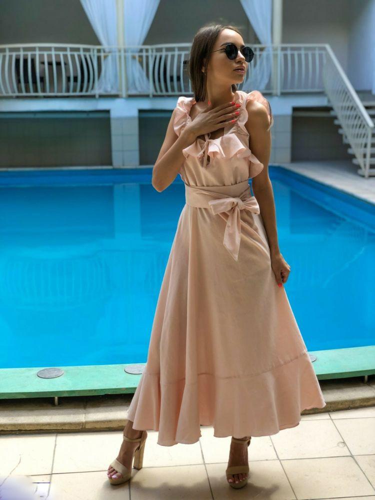 Длинное Летние  платье размеры 42-44 , 44-46 ,46-48