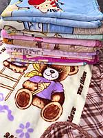 Детское велюровое одеяло-плед/Одеяло в кроватку/Одеялко в коляску