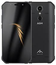 Смартфон защищенный, водонепроницаемый с мощной батареей на 2 сим карты с CDMA AGM A9 black 4/64Gb IP68