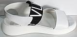 Босоніжки шкіряні на танкетці від виробника модель КЛ1014-1, фото 3