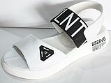 Босоніжки шкіряні на танкетці від виробника модель КЛ1014-1, фото 2