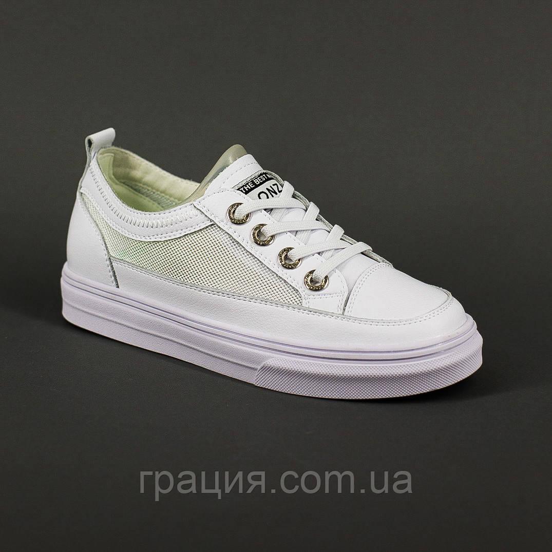 Женские модные белые кроссовки