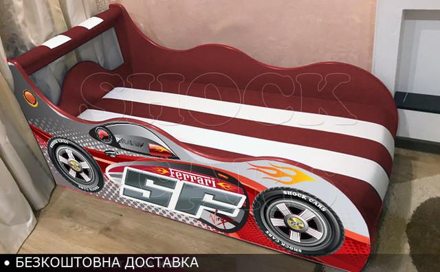 Кровать машина Тачки Хайп Драйв в комплекте с матрасом купить с бесплатной доставкой украина киев