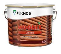 Лазурь-антисептик для дерева, Текнос Вудекс Классик (Teknos Woodex Classic) 9 л
