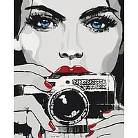 """Картина по номерам Люди """"Яркий взгляд"""" 40х50см. * KHO2670"""