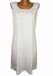 Ночная сорочка женская больших размеров (ночнушка) трикотажная хлопковая широкая бретелька