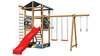Детская площадка с песочницей качелями горкой по вашему проекту SportBaby-8