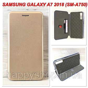 Чехол-книжка G-Case для Samsung Galaxy A7 2018 (A750) Золотистый, фото 2