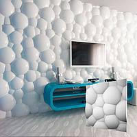 """Декоративная гипсовая 3д панель """"Пузыри"""" для отделки и декорирования стен и потолков 50x50"""