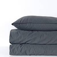 Комплект постельного белья SoundSleep Stonewash Adriatic dark gray темно-серое Двуспальный евро комплект