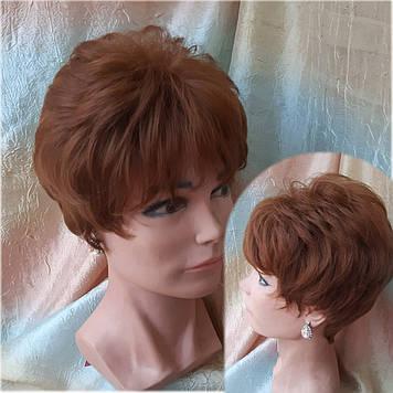 Короткий парик из термоволокна медно-каштановый RG MADREN-30