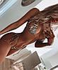 Стильный новый сексуальный купальник бикини треугольник леопард