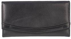 Шкіряний, якісний і місткий жіночий гаманець SWAN art. 1155 чорний