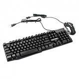 Игровой Набор Клавиатура + мышка  С Подсветкой Gaming PETRA MK-1, фото 3