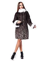 Зимнее прямое пальто из шерстяной итальянской ткани 820 тон 2