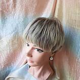 Короткий парик из термоволос пепельно-русый омбре RG4400-AB602, фото 7