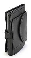 Кожаный компактный мужской кошелек тройного сложения SWAN art. 0091-11-23586732 черного цвета, фото 1