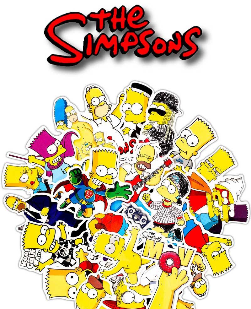Наклейки виниловые Симпсоны / The Simpsons 25 штук