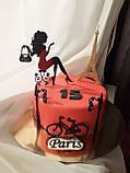 Топпери Франція, Топпер дівчина з ейфелевою вежею, ейфелева вежа на торт, топпер велосипед,Топпер Paris, фото 5