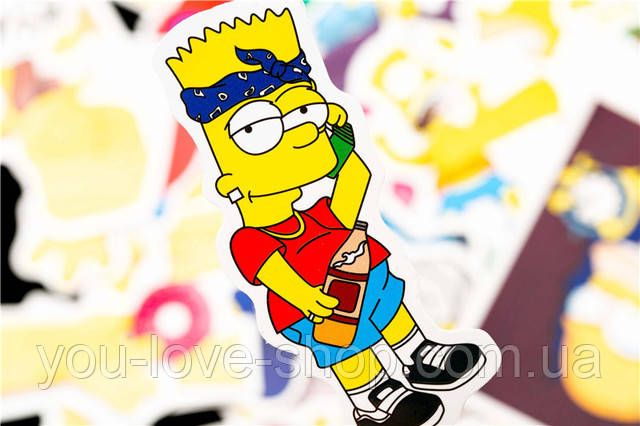 Наклейки виниловые Симпсоны / The Simpsons