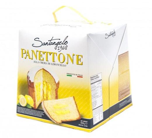 Панеттоне Santangelo alla crema di limone з лимонним  кремом 908г, фото 2