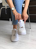 Кросівки Nike Air Force 1 White / Найк аір форс 1, фото 3