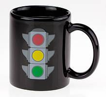 Чашка с терморисунком Светофор ( хамелеон )
