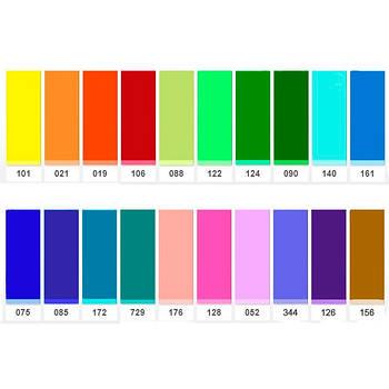 """Универсальный набор гелевых светофильтров 30x30 см """"Colour Studio Pack 15"""", пленка Chris James Filters"""