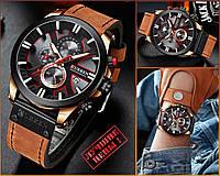 Оригинальные Мужские Наручные часы Curren 8346 Brown-Cuprum-Black