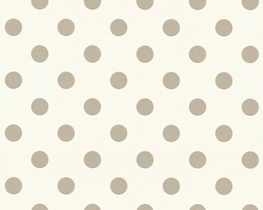 Обои в бежевый фактурный горошек на кремовом фоне 359341 моющиеся виниловые на флизелиновой основе