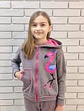 """Дитячий підлітковий спортивний костюм """"Фламінго"""" 122-140, фото 6"""