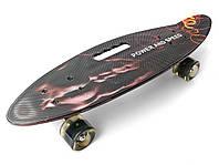 Скейт Пенни борд Penny Board Светящиеся колеса Цвет Спорт