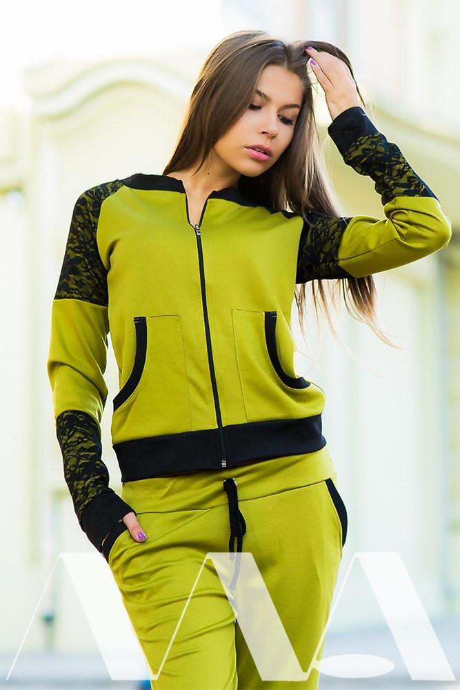 dd029d5be4c Женский спортивный костюм трикотаж с гипюром - ShopStyle магазин одежды от  производителя. в Одессе