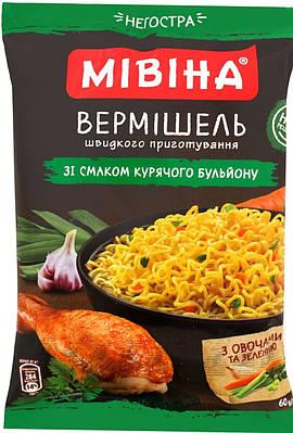 """Вермишель Мивина """"Куриная"""" Неострая 60 грамм"""