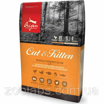 Сухой корм Orijen для кошек и котят | Orijen Cat & Kitten 5,4 кг, фото 2