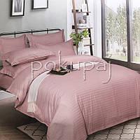 Комплект постельного белья Krispol страйп сатин люкс 180*220 двуспальный розовая пудра 541611 с