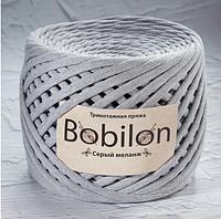 Трикотажнаяпряжа Bobilon Medium 7-9ммСерый меланж