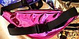Женские лаковые сумки на пояс, бананки Victoria Secret на 2 змейки, фото 3