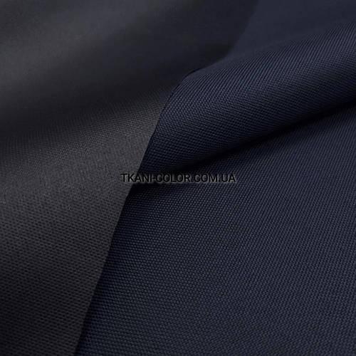 Ткань оксфорд 600d PU (полиуретан) темно-синий - фото 2