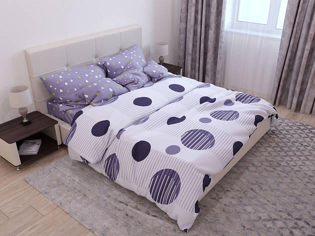 Двуспальный комплект постельного белья евро 200*220 хлопок  (14632) TM KRISPOL Украина, фото 2