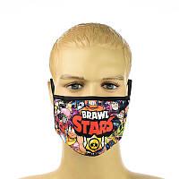 """Детская маска  """"Brawl Stars"""", фото 1"""