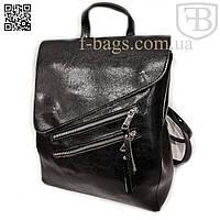 Рюкзак женский, сумка рюкзак женская для девочки из кожзама Black S583-3#