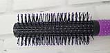 Расческа для укладки волос скелетная DAGG фиолетовая круглая, фото 5