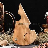 Деревянные доски для подачи с углублением для соусницы. Сыр. (A01021), фото 1